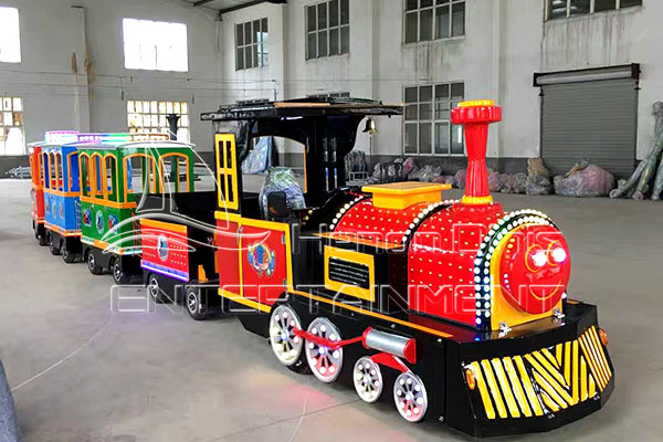 Antique Trackless Train Rides of Fun Rides