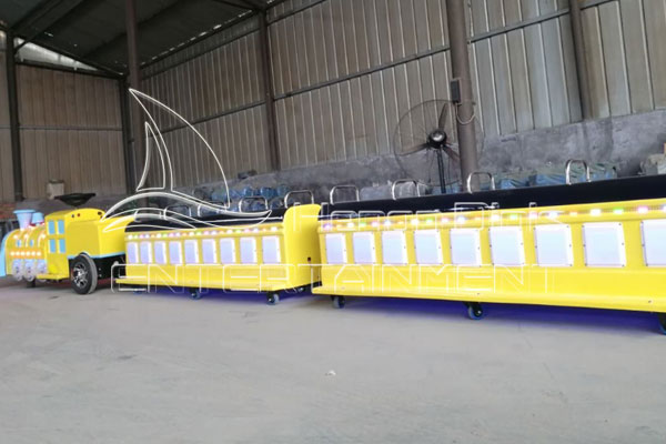 Newly Manufactured Trackless Train Child Can Ride