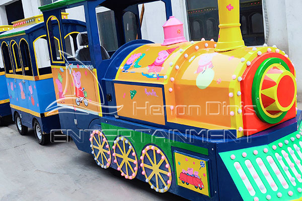 Vintage Peppa Pig Electric Tourist Trains